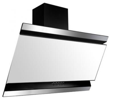 Okap przyścienny VDB Deco 60: kolor szkła: białe, kolor czaszy: czarny