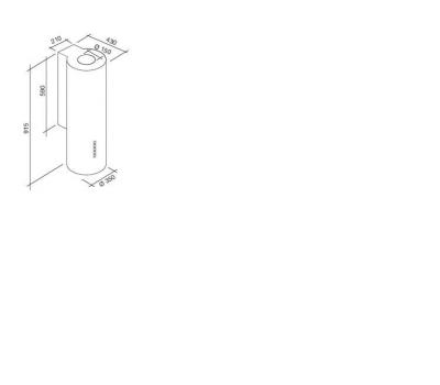 Okap przyścienny FALMEC POLAR II rysunek techniczny