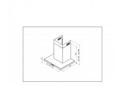 Okap przyścienny AKPO WK-4 FENIKS SLIM ECO 90 rysunek techniczny