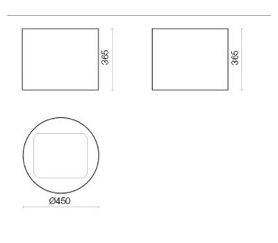 Okap przyścienny FALMEC EOLO E.ion Black rysunek techniczny