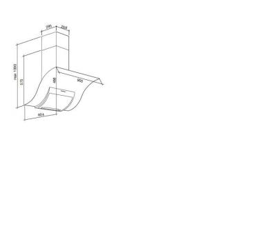 Okap przyścienny FALMEC ADARA 90 rysunek techniczny