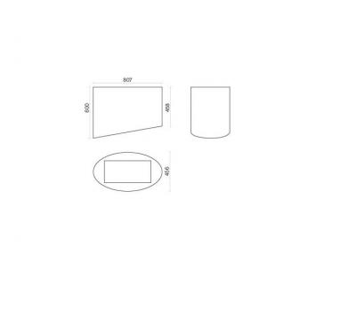 Okap wyspowy FALMEC SPRING E.ion Czarny Isola rysunek techniczny