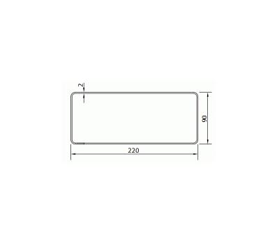 Kanał płaski DOMUS 22x9 cm /1 m kod 910 rysunek techniczny