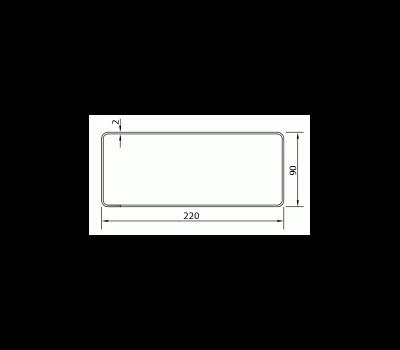 Kanał płaski DOMUS 22x9 cm /1,5 m kod 915 rysunek techniczny
