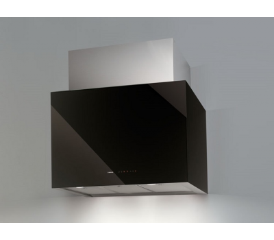 Okap przyścienny NODOR Cube Glass Black 900