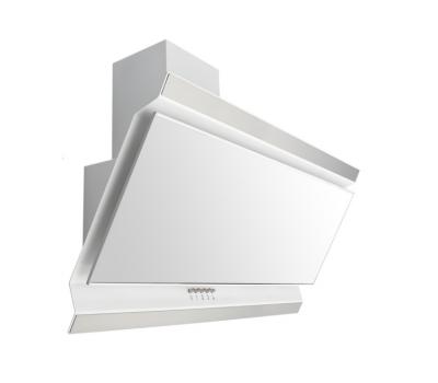 Okap przyścienny VDB Deco 60, kolor szkła: biały, kolor czaszy: biały