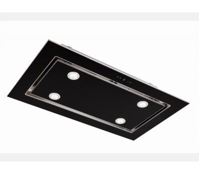 Okap sufitowy TOFLESZ OK-6 LUXOR GLASS 100 CZARNY 850 m3/h