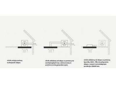 Okap sufitowy FALMEC Nuvola 140 rysunek techniczny