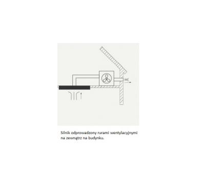 Okap sufitowy FALMEC Nuvola 140 z silnikiem poddaszowym o mocy 1300 m3/h rysunek techniczny
