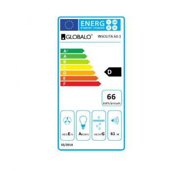 Okap do zabudowy GLOBALO Insolita 60.1 Inox klasa energetyczna
