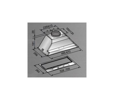 Okap do zabudowy FALMEC Basic 50 400 m3/h