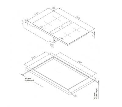 Okap blatowy O+F A-Line INTEGRAL 9054-400 schemat