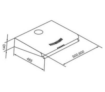 Okap do zabudowy VDB Plus 50 Inox schemat