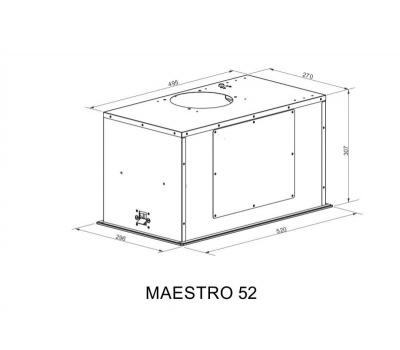 Okap do zabudowy BERG Maestro 52 Black schemat