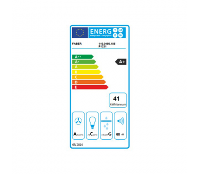 Okap sufitowy FABER HIGH-LIGHT WH 91 klasa energetyczna