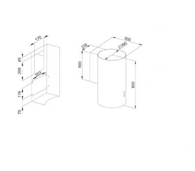 Okap przyścienny KERNAU KCH 0140 W schemat