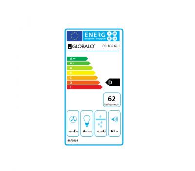Okap do zabudowy GLOBALO Delico 60.1 Inox klasa energetyczna