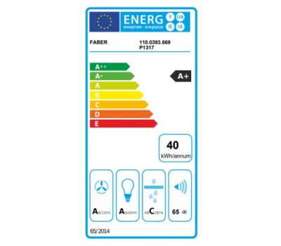 Okap przyścienny FABER VEIL TIBETAN SILVER 90 klasa energetyczna