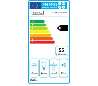 Okap wyspowy KERNAU KCH 0745 B ISLAND klasa energetyczna