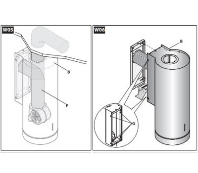 Okap przyścienny FALMEC POLAR Black rysunek techniczny