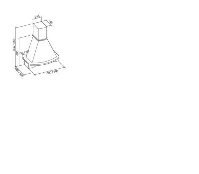 Okap przyścienny FALMEC MIMOSA 90 TULIPANOWIEC rysunek techniczny