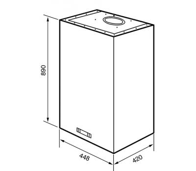 Okap przyścienny Smeg KQ45XE rysunek