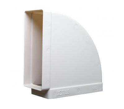 Kolanko płaskie poziome Domus 220x90 mm kod 950