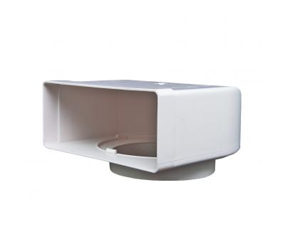 Kolanko płaskie poziome łącznikowe Domus 120x60 mm kod 431