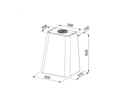 Okap przyścienny Franke FSMD 508 BK Smart Deco rysunek