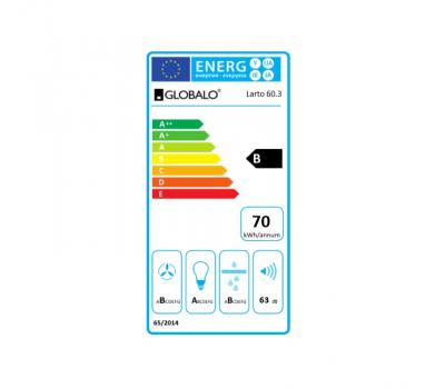 Okap przyścienny GLOBALO LARTO 60.3 WHITE klasa energetyczna