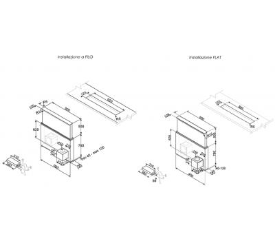 Okap blatowy Smeg KSDD90VN-2 rysunek