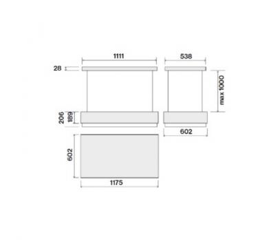 Okap sufitowy FALMEC LEVANTE Circle.Tech Isola 120 Biały rysunek