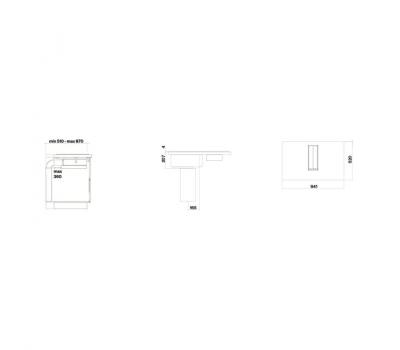 Płyta indukcyjna ze zintegrowanym okapem blatowym FALMEC QUANTUM rysunek