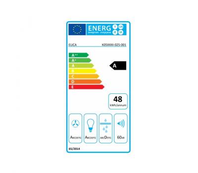 Okap wyspowy ELICA PIX CONCRETE/F/42 klasa energetyczna
