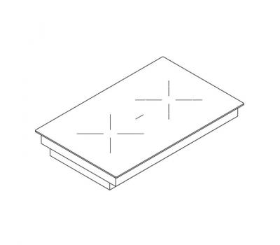 BORA Classic ceram. płyta grzew. HiLight z 2 polami grzew., 1 pier./2 pier./miejsce na brytfannę CKCB Classic 2.0 - rysunek techniczny 4
