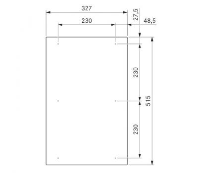 BORA Classic indukcyjna ceramiczna płyta grzewcza CKFI Classic 2.0 - rysunek techniczny 3