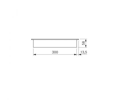 BORA Classic indukcyjna ceramiczna płyta grzewcza CKFI Classic 2.0 - rysunek techniczny 1