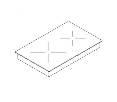 BORA Classic indukcyjna ceramiczna płyta grzewcza z dwoma polami grzewczymi CKI Classic 2.0 - rysunek techniczny 1