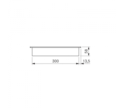 BORA Classic indukcyjna ceramiczna płyta grzewcza z dwoma polami grzewczymi CKI Classic 2.0 - rysunek techniczny 3