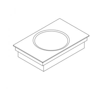 BORA Classic indukcyjny wok ceramiczny CKIW Classic 2.0 - rysunek techniczny 3