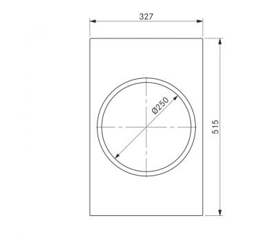 BORA Classic indukcyjny wok ceramiczny CKIW Classic 2.0 - rysunek techniczny 4