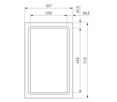 BORA Classic Tepan ze stali szlachetnej z dwoma polami grzewczymi CKT Classic 2.0 - rysunek techniczny 2