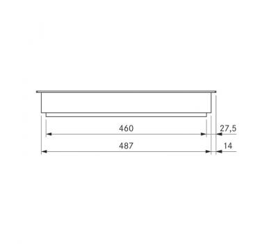 BORA Classic Tepan ze stali szlachetnej z dwoma polami grzewczymi CKT Classic 2.0 - rysunek techniczny 3