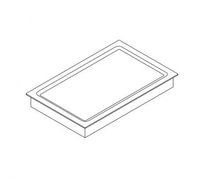 BORA Classic Tepan ze stali szlachetnej z dwoma polami grzewczymi CKT Classic 2.0 - rysunek techniczny 4