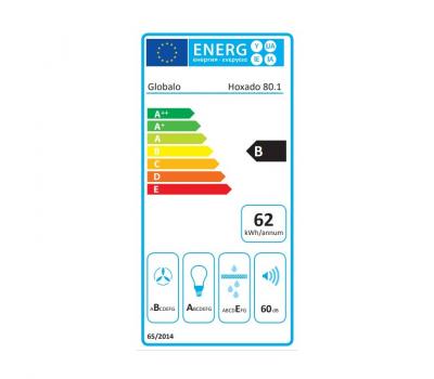 Okap do zabudowy GLOBALO Hoxado 80.1 Inox klasa energetyczna
