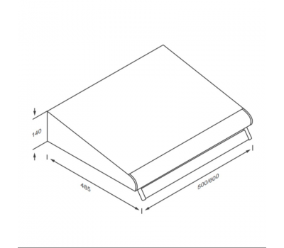 Okap podszafkowy KERNAU KBH 0960.1 X rysunek