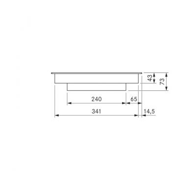 BORA Pro ceramiczna płyta grzewcza HiLight z dwoma polami grzewczymi, 3 pierścienie / 2 pierścienie PKC32 - rysunek techniczny 1