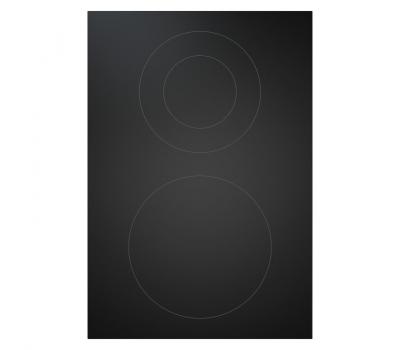 BORA Pro ceramiczna płyta grzewcza Hyper z dwoma polami grzewczymi, 1 pierścień / 2 pierścienie PKCH2