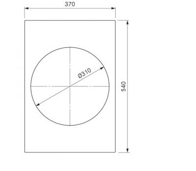 BORA Pro indukcyjny wok ceramiczny PKIW1 - rysunek techniczny 1