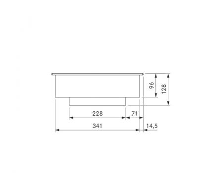 BORA Pro indukcyjny wok ceramiczny PKIW1 - rysunek techniczny 2